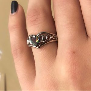 Claddagh Irish ring sterling silver 925 multicolor